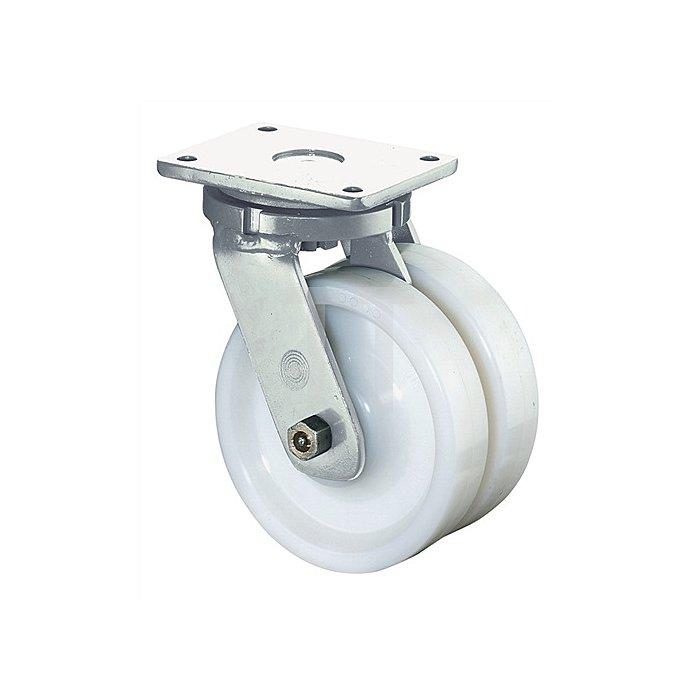 Lenkrolle B15 D.150mm Trgf.1800kg Polyamidrad Platte 175x140mm