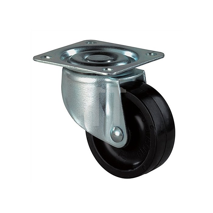 Lenkrolle D.30mm Bauhöhe 36mm Kunststoffrad f.weiche Böden Bauhöhe 36mm