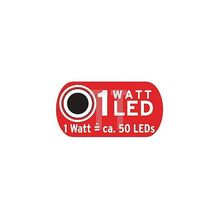 Leuchte LED 1W Head-Light HL 2in1 Kopf-/Fahrradlampe m.3xAAA