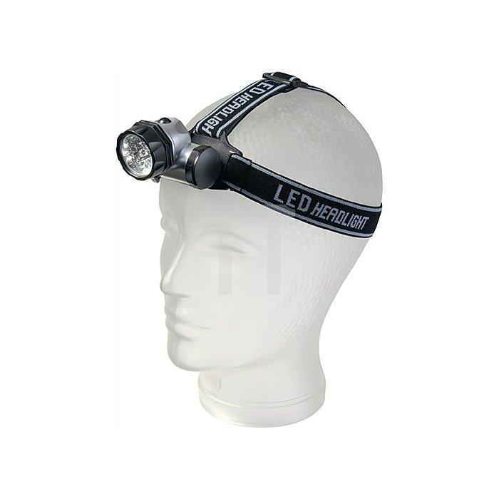 Leuchte LED Head-Light HL 6+1 Kopflampe m.3xAAA