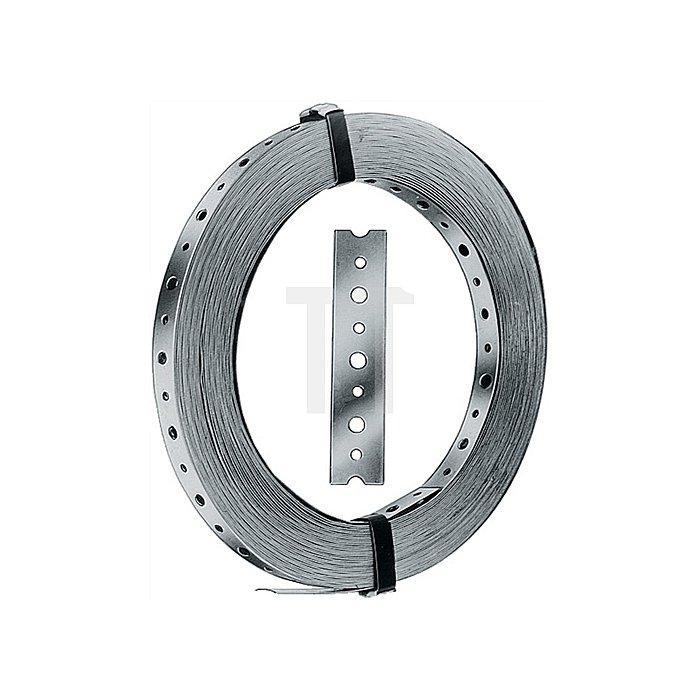 Lochband Typ BAN 102025 Breite 20mm Dicke 1mm feuerverzinkt 25m