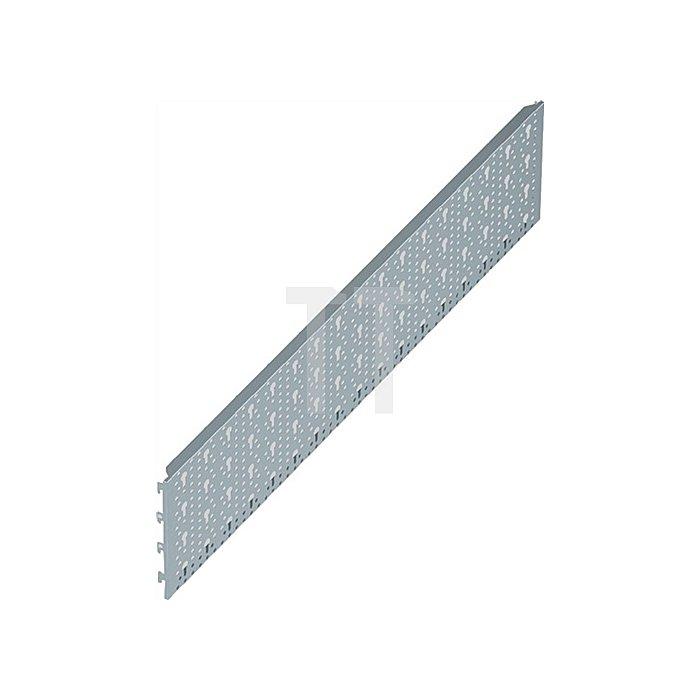 Lochplatte 11400 L. 800mm B. 200mm Stahl weiss Grundelement f. Werkzeughalter