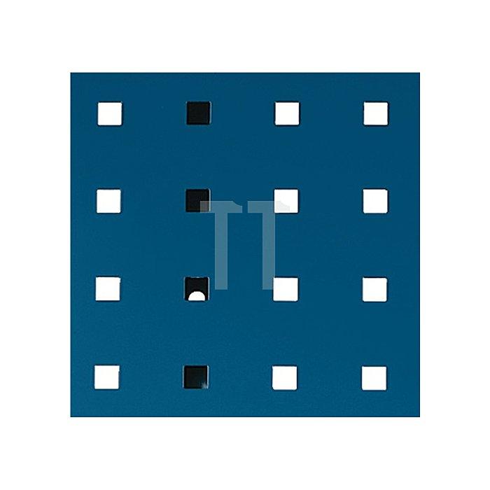 Lochplatte L.495xB.457mm enzianblau RAL 5010 Bott