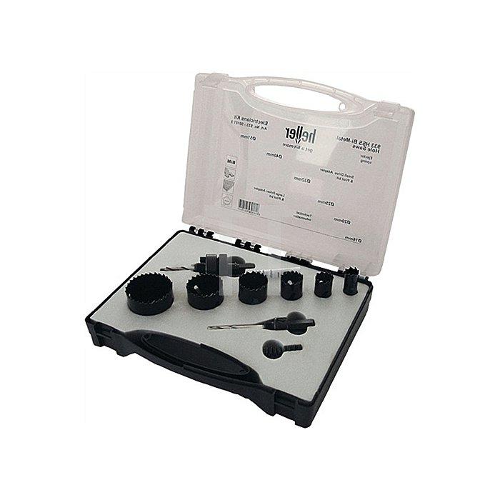 Lochsäge-Set 9-tlg. D.35,0-83,0mm 4-6 Zähne/Zoll HSS-Bi-Metall im Ku-koffer