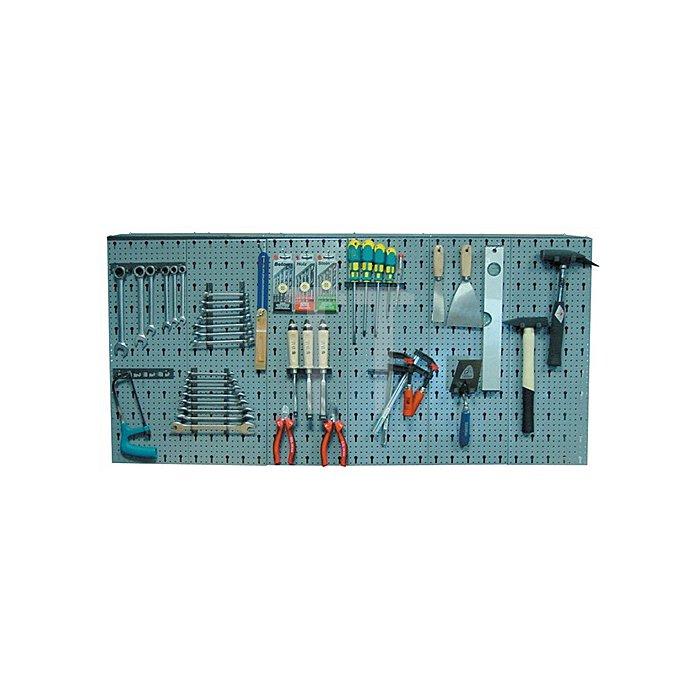 Lochwand 135x62x2cm 6Lochplatten 22Werkzeughalter