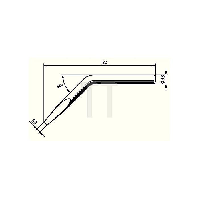 Lötspitze 152JD/SB f.Art.Nr.872363 abgewinkelt ERSA