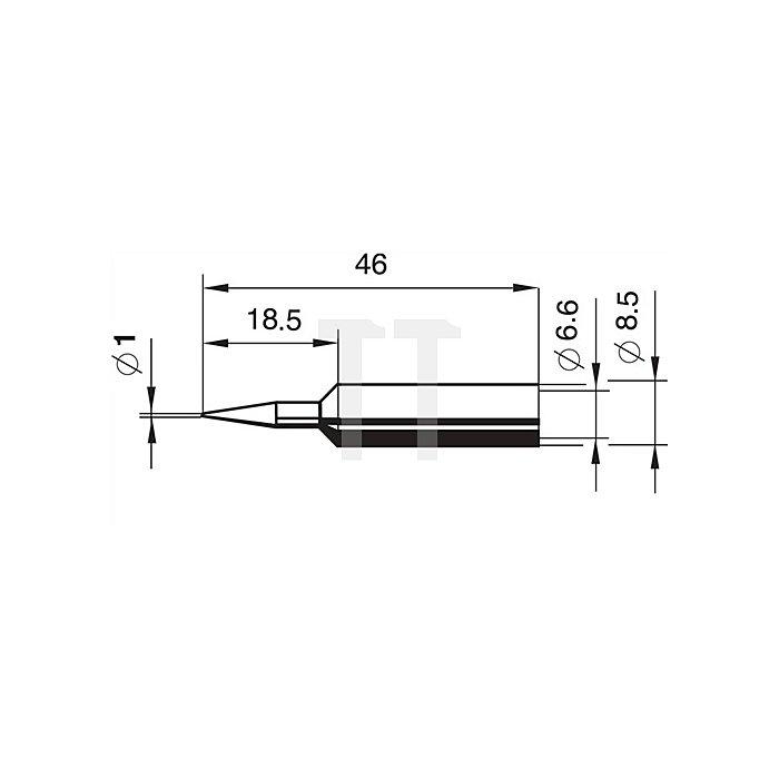 Lötspitze 832BD/SB bleistiftspitz 1mm Dauerlötspitze ERSA f.872350/402