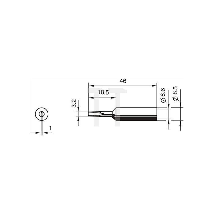 Lötspitze 832ED/SB meißelförmig 3,2mm Dauerlötsp. ERSA f.872350/390