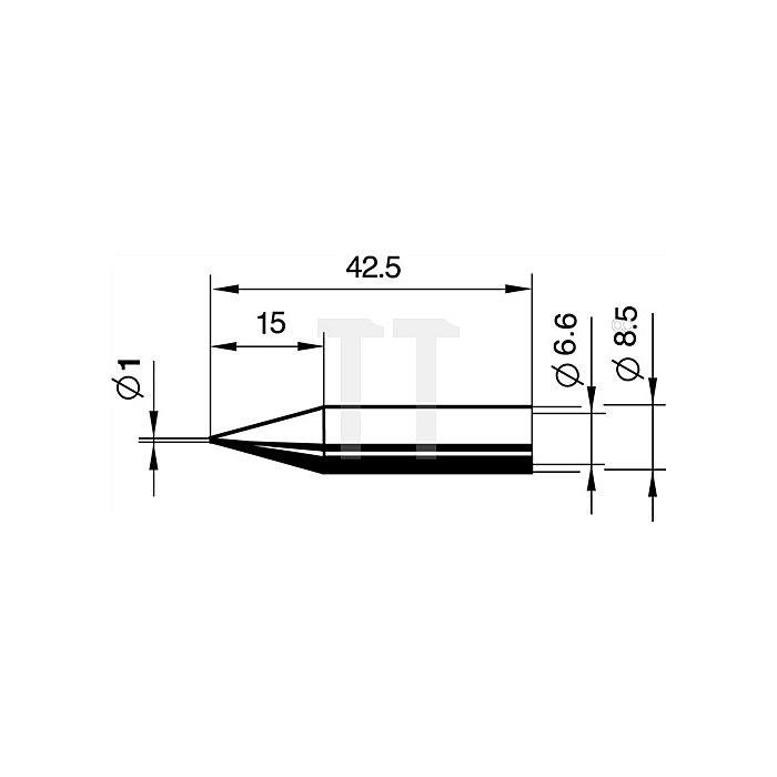 Lötspitze 842BDLF/SB bleistiftspitz 1mm Dauerlötspitze ERSA f.872350/402