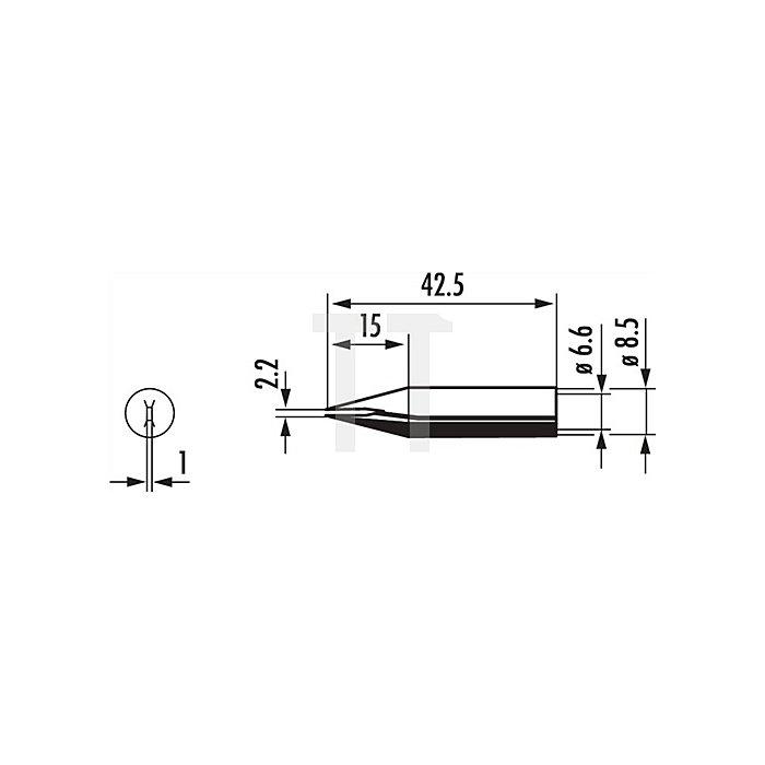 Lötspitze 842CDLF/SB meißelförmig 2,2mm Dauerlötsp. ERSA f.872350/402