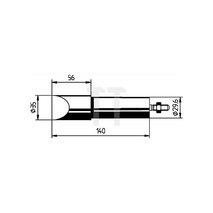 Lötspitze f.Art.Nr.872380 meißelförmig B.35mm vernickelt