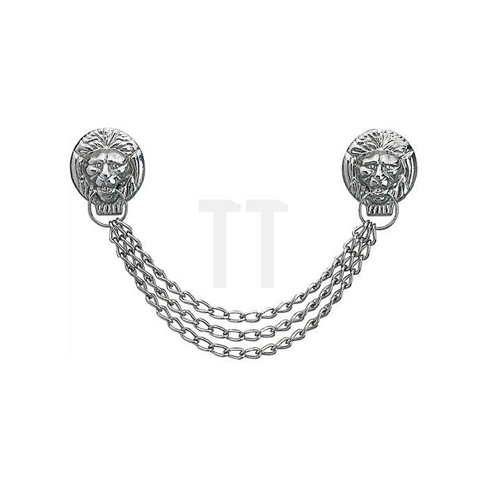 Löwenkopfkette Samuel Länge: 32 cm silber Messing, vernickelt