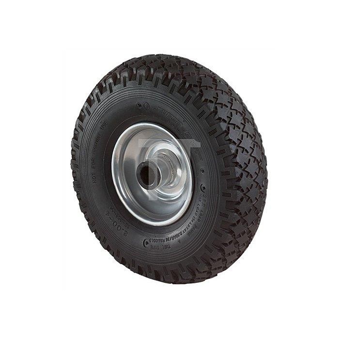 Luftrad Durchmesser 400mm Tragfähigkeit 200kg Nabenlänge 75mm Rillenprofil
