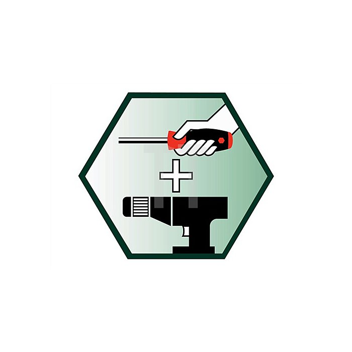 Magazin-Bithalter 7 tlg. Schlitz/PH/PZD/TX Bits 70mm lang Halter mit Magnet
