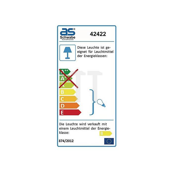 Magnet-Arbeitsleuchte E27 230V 20W m.Energiesparleuchtm. Kabel-L.5m
