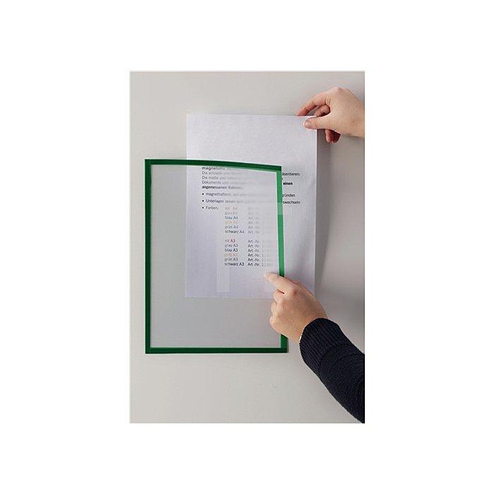 Magnet-Sichtfenster DIN A4 grau 1VE=5 Stück im Hoch-u.Querformat