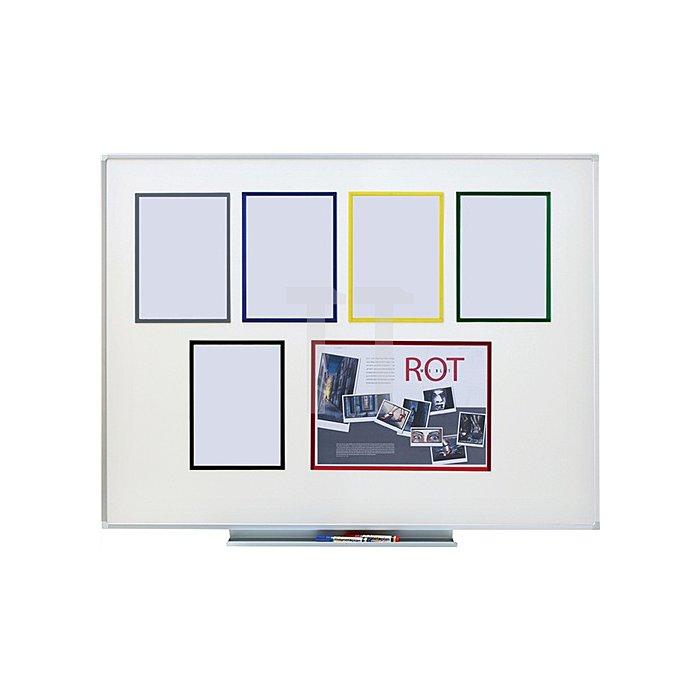 Magnet-Sichtfenster DIN A4 grün VE=5 Stück im Hoch-u.Querfor