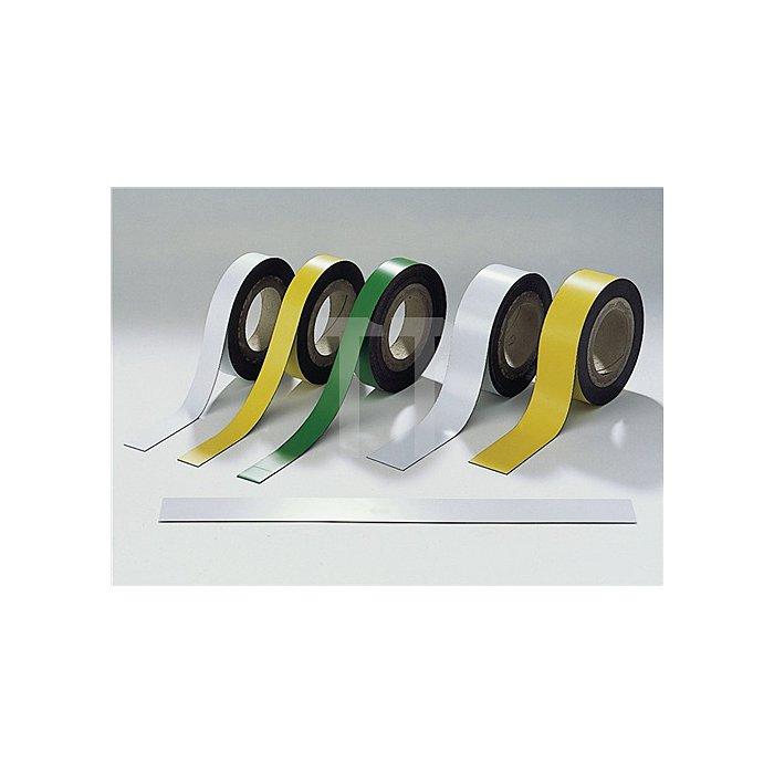 Magnetband weiss B.50mm L.10m/RL beschriftbar z.Schneiden