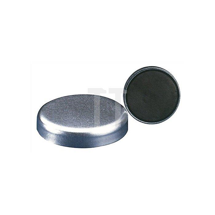 Magnetflachgreifer D.40xH.8mm o.Gewindebuchse Haftkraft 125N