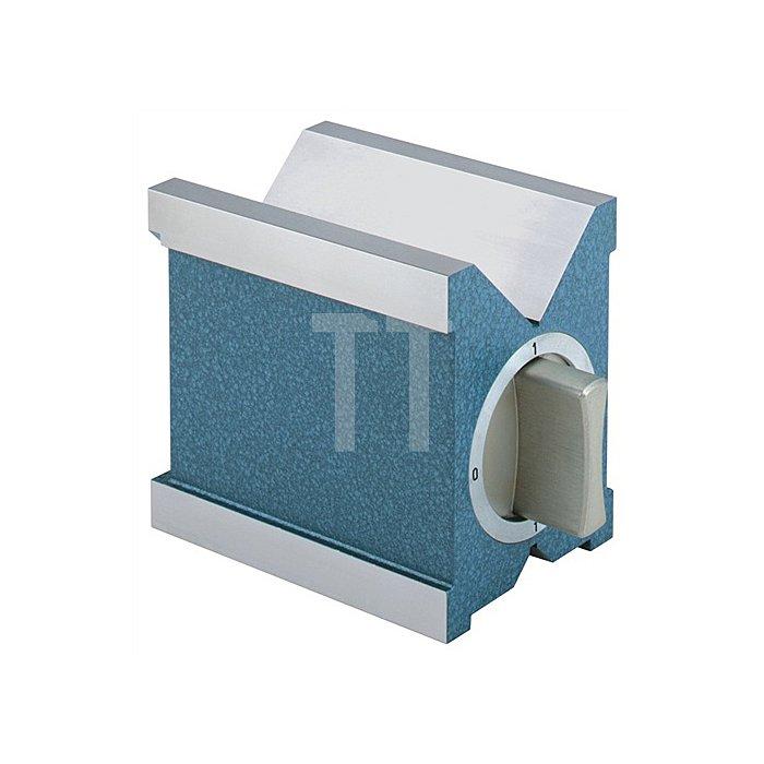 Magnetprisma L.100xB.70mm abschaltbarer Magnet f.Werkstück-D.6-70mm