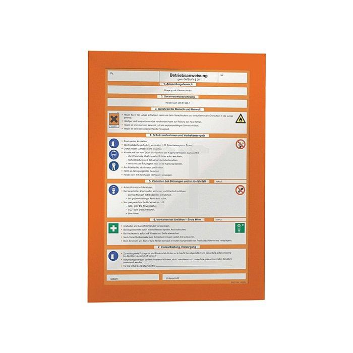 Magnetrahmen DIN A4 orange selbstklebende Rückenfolie 2 St./VE