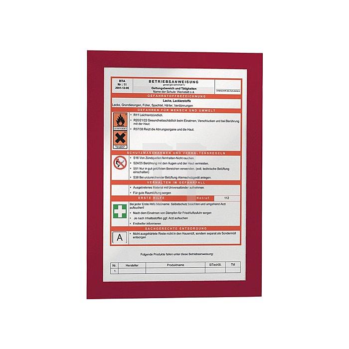 Magnetrahmen DIN A4 rot selbstklebende Rückenfolie 2 St./VE