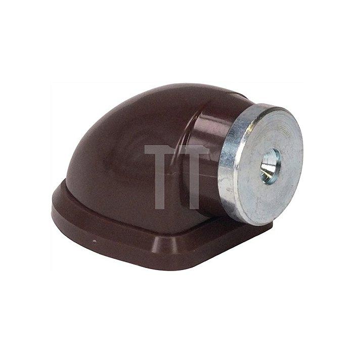 Magnettürfeststeller 011/572/1 Höhe 38mm Breite 45,5mm PVC-Körper braun