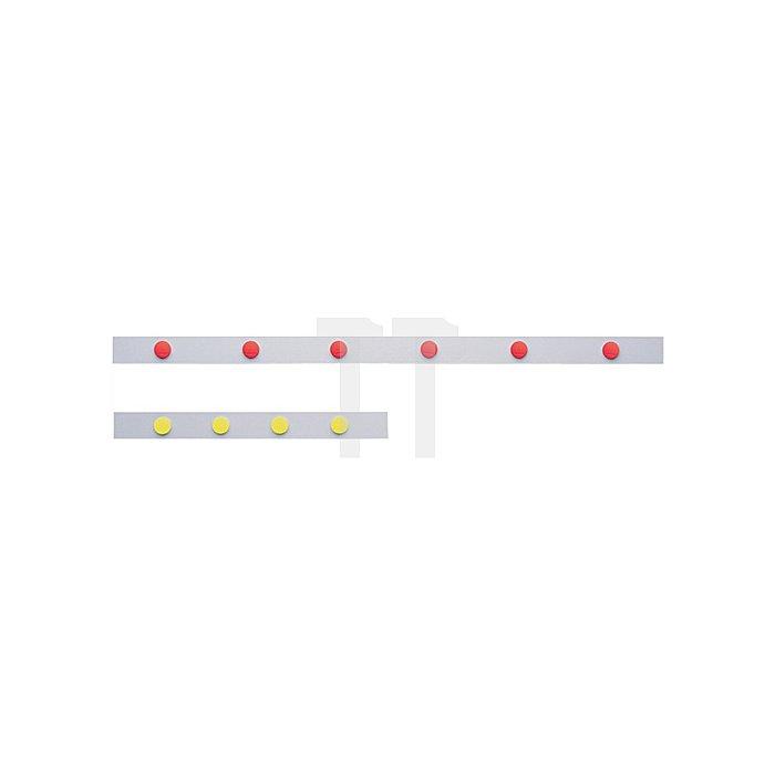 Magnetwandleiste weiss L.1000xB.50mm S.0,5mm selbstklebend