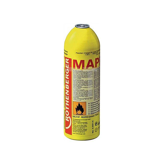 MAPP Gas Spezial Gasgemisch / Anschluss 7/16Zoll Flammtemperatur bis 2400 °C