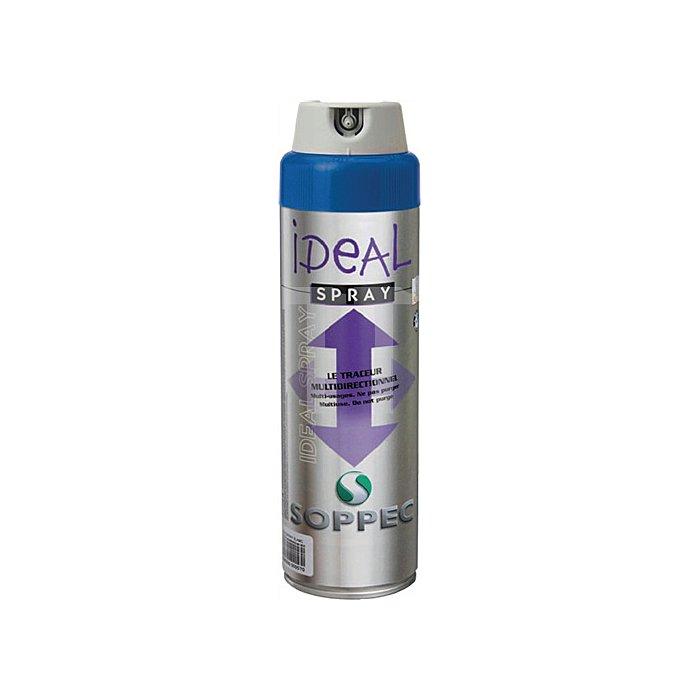 Markierungsspray Ideal 500ml Leuchtblau f.alle Untergründe