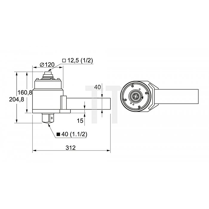 Matador Drehmoment-Vervielfältiger mechanisch 4500 Nm 6182 0040