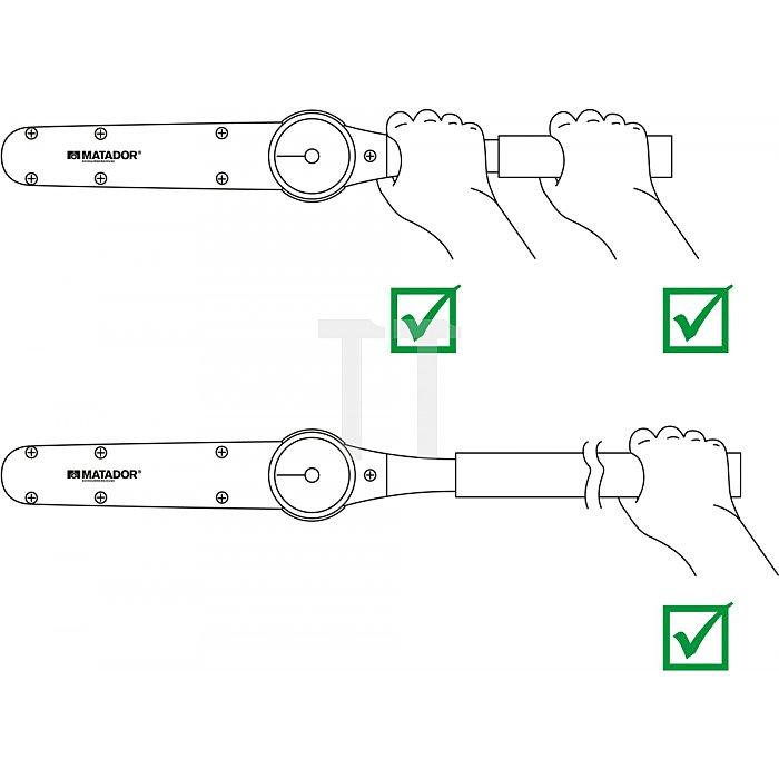 """Matador Drehmomentschlüssel DIAL 6,3mm 1/4"""" 0-3,5Nm 6169 0010"""