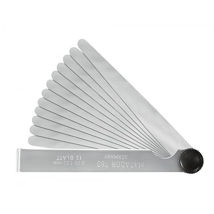 Matador Fühlerlehren 100mm Blatt 13x0,05 - 1,00mm 0760 0002