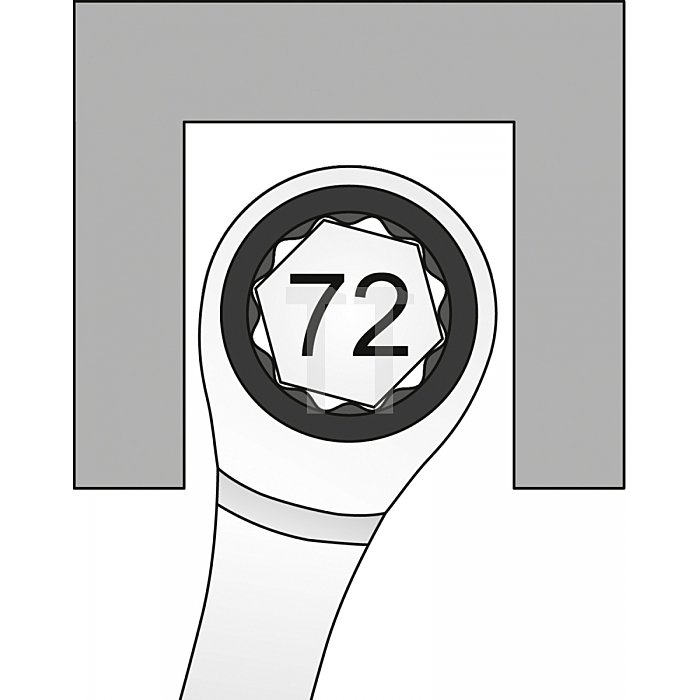 Matador Knarren-Ringmaulschlüssel gerade 27mm - 671 Nm 0183 0270