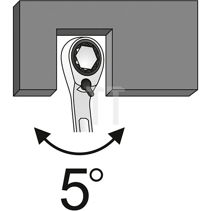 Matador Knarren-Ringmaulschlüssel mit Hebel 30mm - 953 Nm 0189 0300