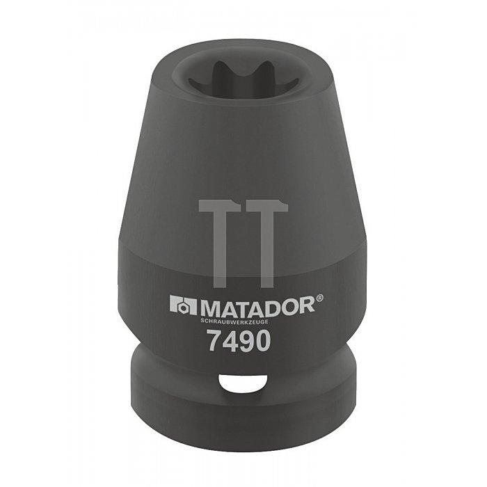 "Matador Kraft-Schraubendrehereinsatz Außen-TORX® 12,5 1/2"" E20 7490 0200"