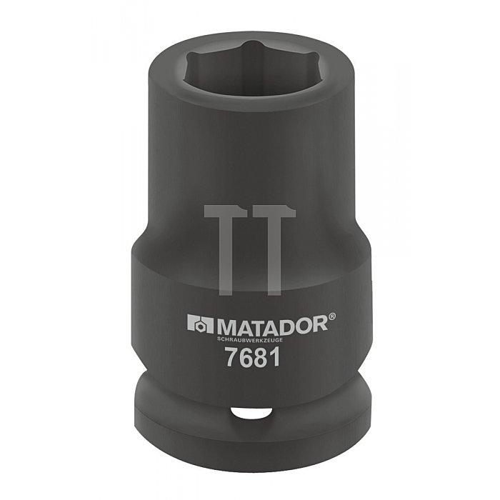 """Matador Kraft-Steckschlüsseleinsatz lang 25mm 1"""" 22x90mm 7681 0220"""