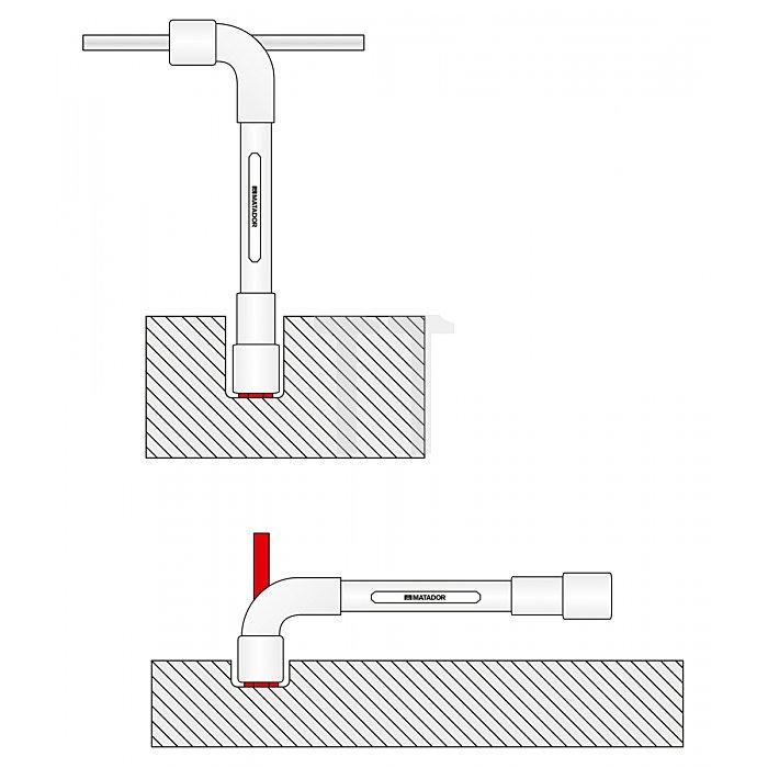 Matador Pfeifenkopfschlüssel 6x12-kt. 23mm 3200230