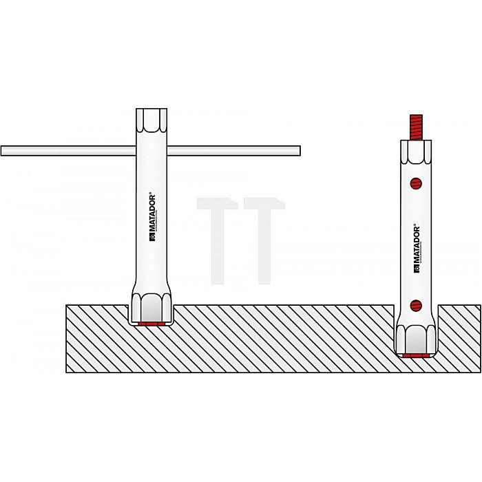 Matador Rohrsteckschlüssel-Satz 12-tlg. 6x7 - 30x32mm 0380 9120