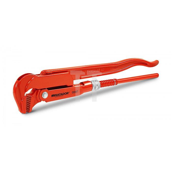 """Matador Rohrzange 90° DIN 5234 Form A 1"""" / 0-42mm 0597 0001"""
