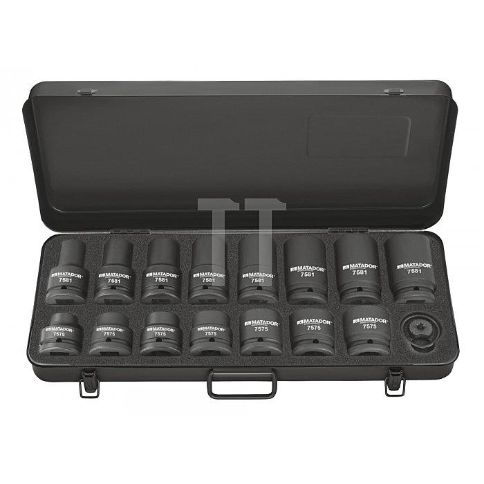 Matador 3/4'' Kraft-Steckschlüssel-Satz 17-33mm 17-teilig 7575 9001