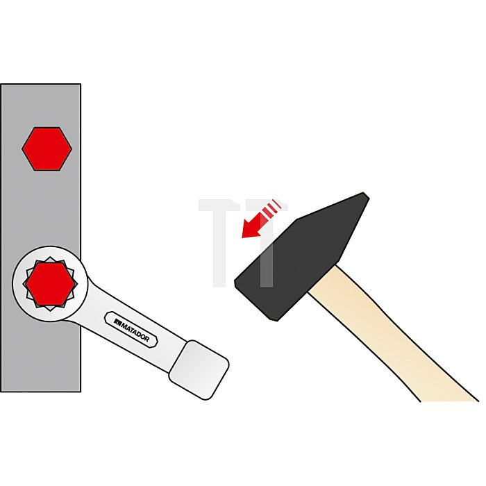 Matador Schlag-Ringschlüssel 77mm 0270 0770