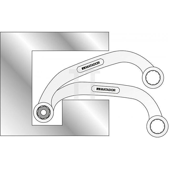 Matador Starter- & Blockschlüssel 15-17mm 0188 1517