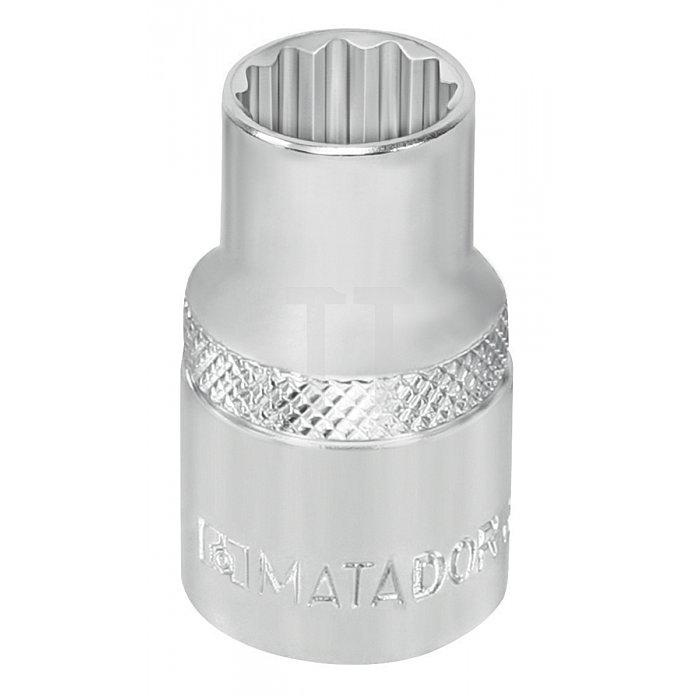 """Matador Steckschlüssel-Einsatz 12-kt. 10mm 3/8"""" 11/32 AF 3075 8004"""