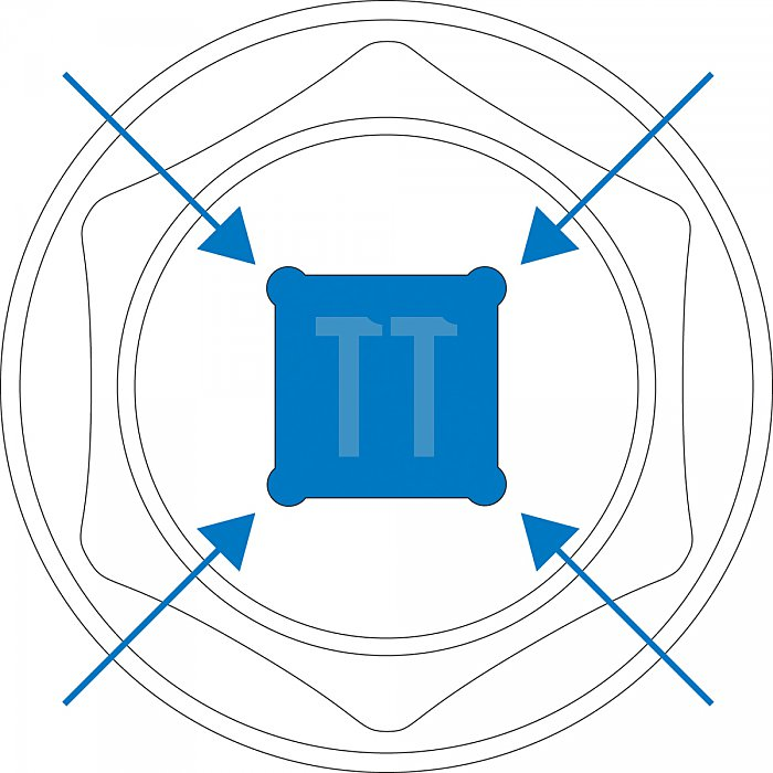 Matador Steckschlüssel-Einsatz lang 6-kt. 12,5 1/2 12mm 4081 0120