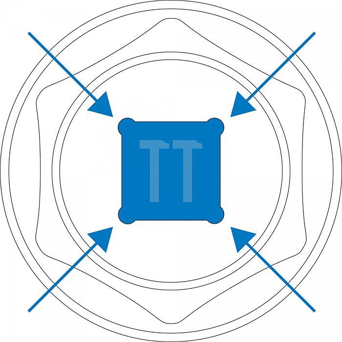 Matador Steckschlüssel-Einsatz lang 6-kt. 12,5 1/2 19mm 4081 0190