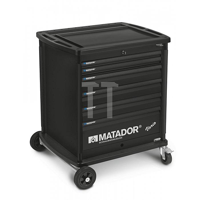 Matador VARIO Werkstattwagen leer 6 Schubladen Schwarz 8164 0009