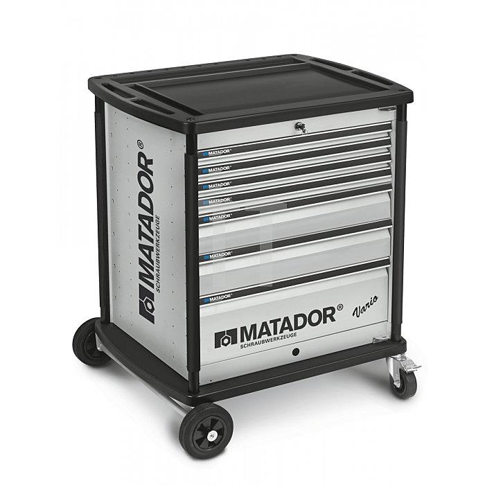 Matador VARIO Werkstattwagen leer 7 Schubladen Silber 8164 0011