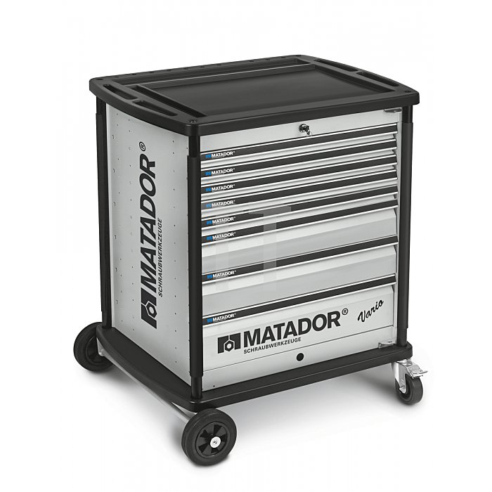 Matador VARIO Werkstattwagen leer 8 Schubladen Silber 8164 0021