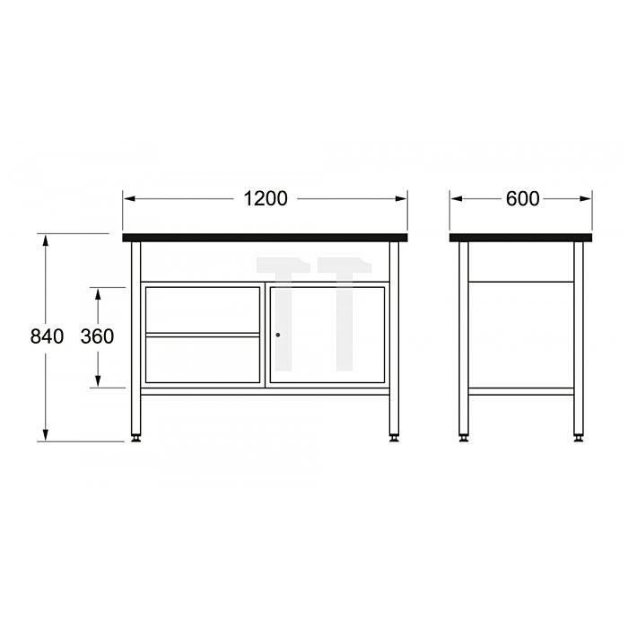 Matador Werkbank 1200 1200x600x840mm A 8154 0021